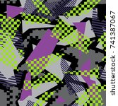 abstract vector seamless...   Shutterstock .eps vector #741387067