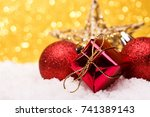 christmas composition of... | Shutterstock . vector #741389143