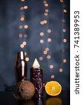 tiki cocktails | Shutterstock . vector #741389953
