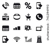 16 vector icon set   call ...