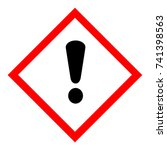 vector illustration ghs hazard... | Shutterstock .eps vector #741398563