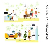 vector illustration of... | Shutterstock .eps vector #741403777