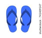 slates. summer shoes. flip...   Shutterstock .eps vector #741409147