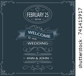 welcome to our wedding.... | Shutterstock .eps vector #741413917
