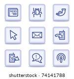 internet web icons set 2  light ... | Shutterstock .eps vector #74141788