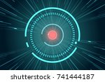 abstract  technology ... | Shutterstock .eps vector #741444187