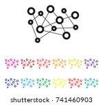 set report icon set | Shutterstock .eps vector #741460903