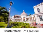jamaica spanish town | Shutterstock . vector #741461053