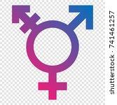 transgender symbol | Shutterstock .eps vector #741461257