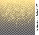 glitter particles background... | Shutterstock .eps vector #741466387