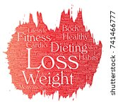 conceptual weight loss healthy... | Shutterstock . vector #741466777