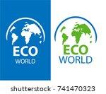 vertical vector logo globe.... | Shutterstock .eps vector #741470323