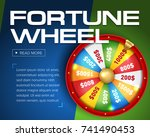wheel of fortune 3d object... | Shutterstock .eps vector #741490453