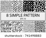 set of creative handmade...   Shutterstock .eps vector #741498883