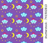 Seamless Pattern With Clouds...