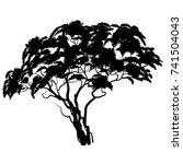african tree silhouette. vector ... | Shutterstock .eps vector #741504043