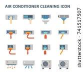 air conditioner air compressor... | Shutterstock .eps vector #741517507