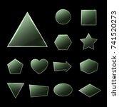 green glass plates set....   Shutterstock .eps vector #741520273