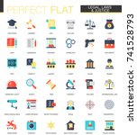 vector set of flat law legal... | Shutterstock .eps vector #741528793