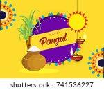 illustration of happy pongal ...   Shutterstock .eps vector #741536227