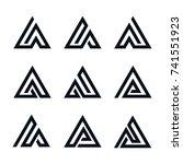 triangle line design element set   Shutterstock .eps vector #741551923