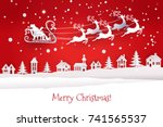 paper cut out and craft winter... | Shutterstock .eps vector #741565537