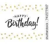congratulations. abstract... | Shutterstock .eps vector #741577507