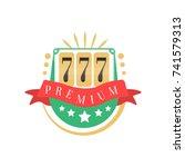 casino logo  colorful gambling... | Shutterstock .eps vector #741579313