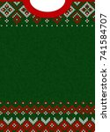 ugly sweater merry christmas... | Shutterstock . vector #741584707