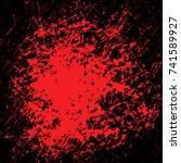 blood stain for halloween on... | Shutterstock .eps vector #741589927