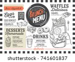 brunch food menu for restaurant ... | Shutterstock .eps vector #741601837