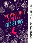 christmas invitation for... | Shutterstock .eps vector #741601843
