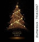 gold glitter christmas tree...
