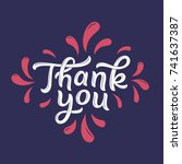 thank you dark tone... | Shutterstock .eps vector #741637387