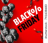 black friday sale poster by... | Shutterstock .eps vector #741638683