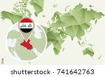 infographic for iraq  detailed... | Shutterstock .eps vector #741642763
