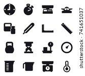 16 vector icon set   clock
