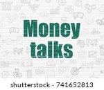 business concept  painted green ... | Shutterstock . vector #741652813