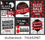black friday banner template... | Shutterstock .eps vector #741652987