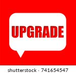 banner upgrade | Shutterstock .eps vector #741654547