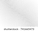 abstract halftone wave dotted... | Shutterstock .eps vector #741665473