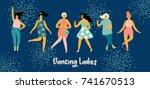 Vector Illustration Of Dancing...