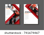 red modern abstract cover... | Shutterstock .eps vector #741674467