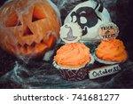 halloween cupcakes | Shutterstock . vector #741681277