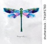 monotype vivid colorful...   Shutterstock .eps vector #741691783
