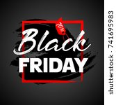black friday sale poster. black ... | Shutterstock .eps vector #741695983