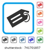 tag icon. flat grey pictogram...