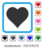 love heart icon. flat grey...
