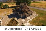 Small photo of Aerial drone photo from Agia Foteini, weirdest church in Greece, Mantineia, Peloponnese, Greece