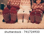 close up cropped low angle of... | Shutterstock . vector #741724933